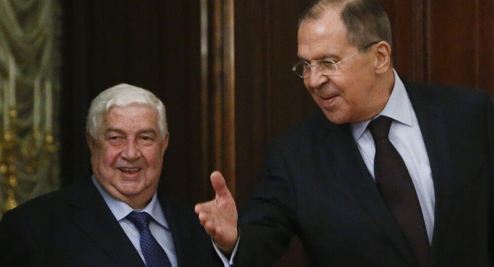 Suriye Dışişleri Bakanı Velid Muallim ve Rusya Dışişleri Bakanı Sergey Lavrov