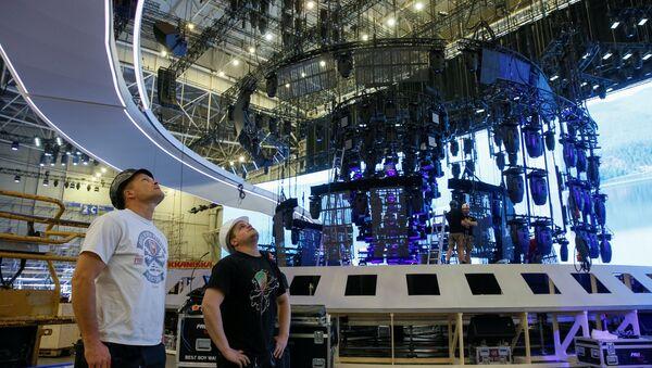 Kiev'de Eurovision Şarkı Yarışması hazırlıkları sürüyor - Sputnik Türkiye