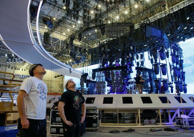 Kiev'de Eurovision Şarkı Yarışması hazırlıkları sürüyor