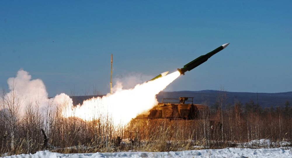 A Buk-М1 air defense complex during training of Air Defense Forces in Eastern military district in Buryatia