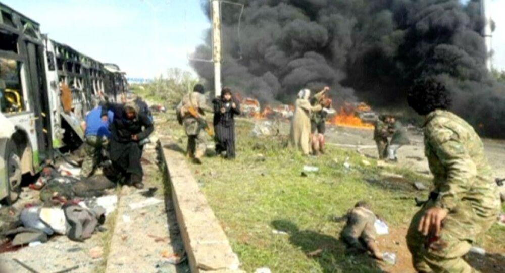 Sivillerin tahliye edildiği otobüs konvoyuna saldırı