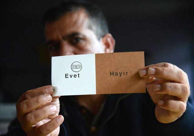 referandum - oy sayımı - evet