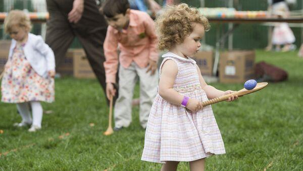 Beyaz Saray'ın bahçesindeki Paskalya kutlamasına yüzlerce çocuk katıldı. - Sputnik Türkiye