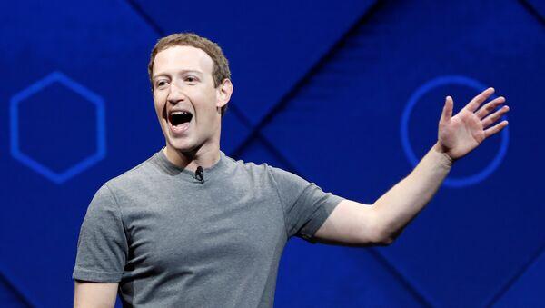 Facebook'un kurucusu Mark Zuckerberg - Sputnik Türkiye
