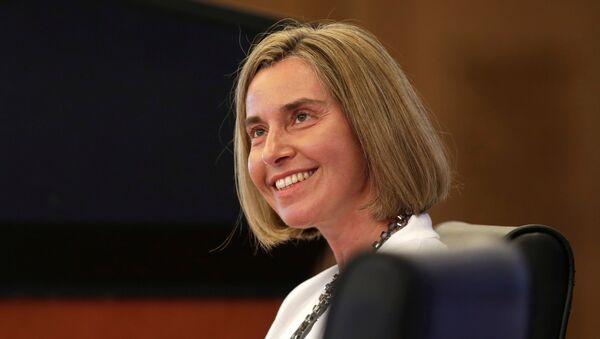 Avrupa Birliği (AB) Dışişleri ve Güvenlik Politikaları Yüksek Temsilcisi Federica Mogherini - Sputnik Türkiye