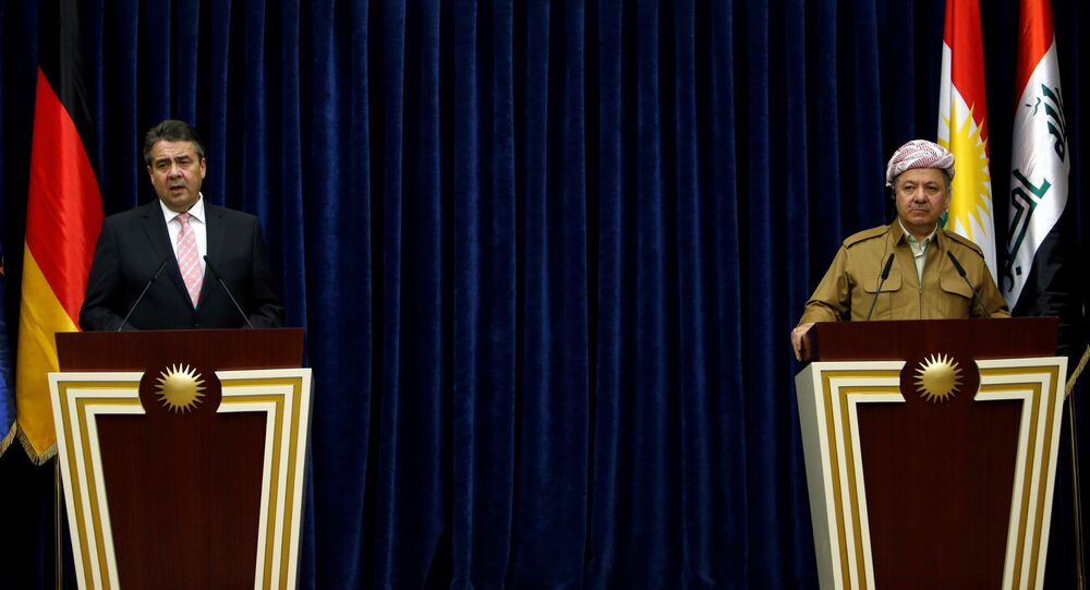 Almanya Dışişleri Bakanı Sigmar Gabriel ve IKBY Başkanı Mesud Barzani
