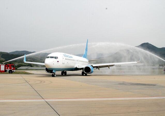 Rusya'daki Vnukova Havalimanı'ndan kalkan Pobeda Havayollarına ait uçak, 188 yolcusuyla Alanya-Gazipaşa Havalimanına indi