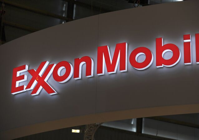 Logo of US oil and gas giant ExxonMobil