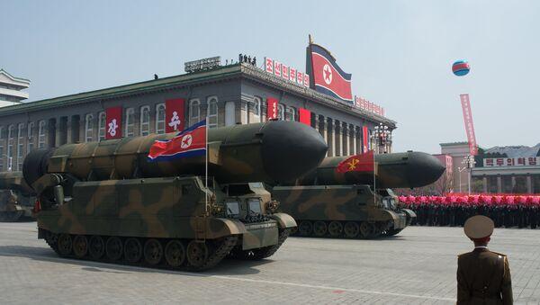 Kuzey Kore'de askeri geçit - Sputnik Türkiye
