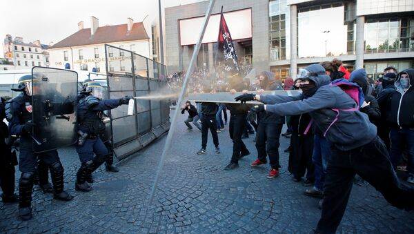 Fransa'nın başkenti Paris'te eylem - Sputnik Türkiye