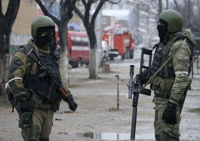 Dağıstan'da Rus özel harekat askerleri