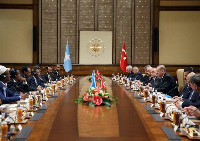 Cumhurbaşkanı Recep Tayyip Erdoğan ve Somali Cumhurbaşkanı Muhammed Abdullah Fermacu
