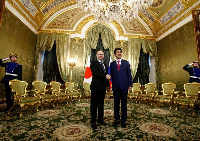 Rusya Devlet Başkanı Vladimir Putin- Japonya Başbakanı Şinzo Abe