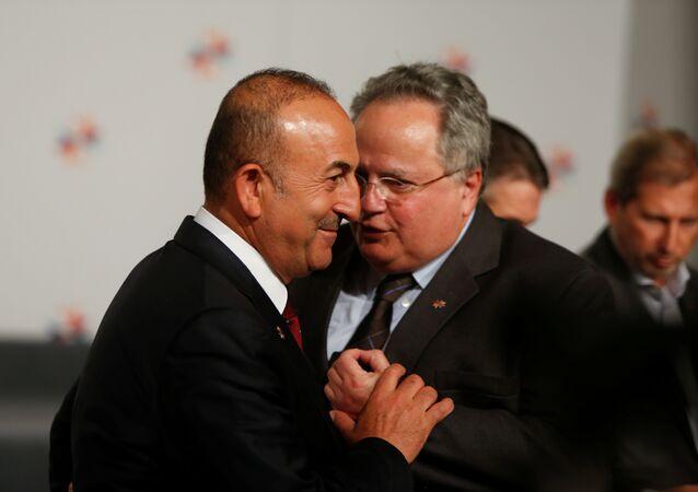 Türkiye Dışişleri Bakanı Mevlüt Çavuşoğlu- Yunanistan Dışişleri Bakanı Nikos Koçyas
