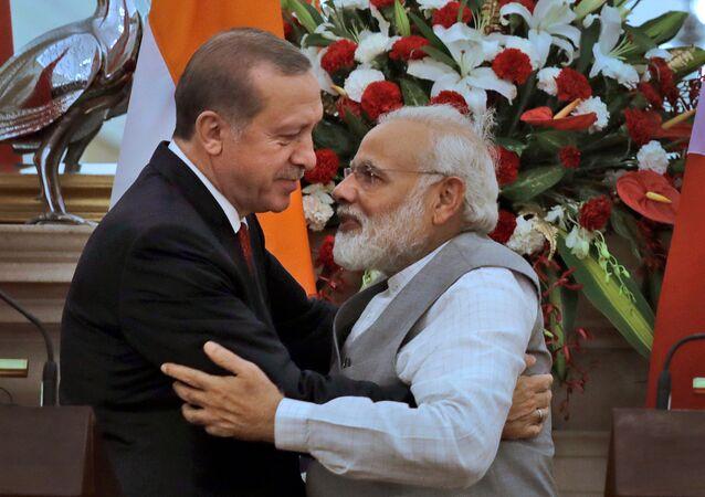 Cumhurbaşkanı Erdoğan ve Hindistan Başbakanı Modi