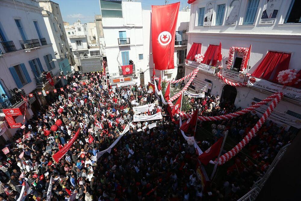 Tunus'ta 1 Mayıs