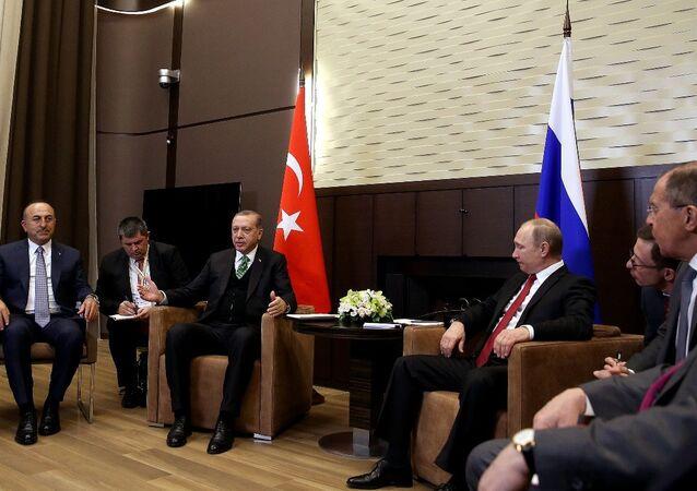 Vladimir Putin - Recep Tayyip Erdoğan - Sergey Lavrov - Mevlüt Çavuşoğlu