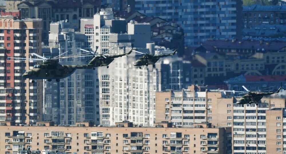 Mi-26 ağır nakliye helikopteri.