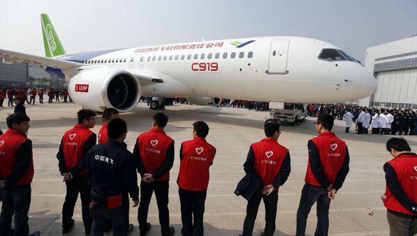 China's first big passenger plane C919 (File) - Sputnik Türkiye