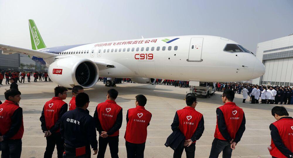 China's first big passenger plane C919 (File)