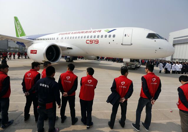 China's first big passenger plane C919 (File)