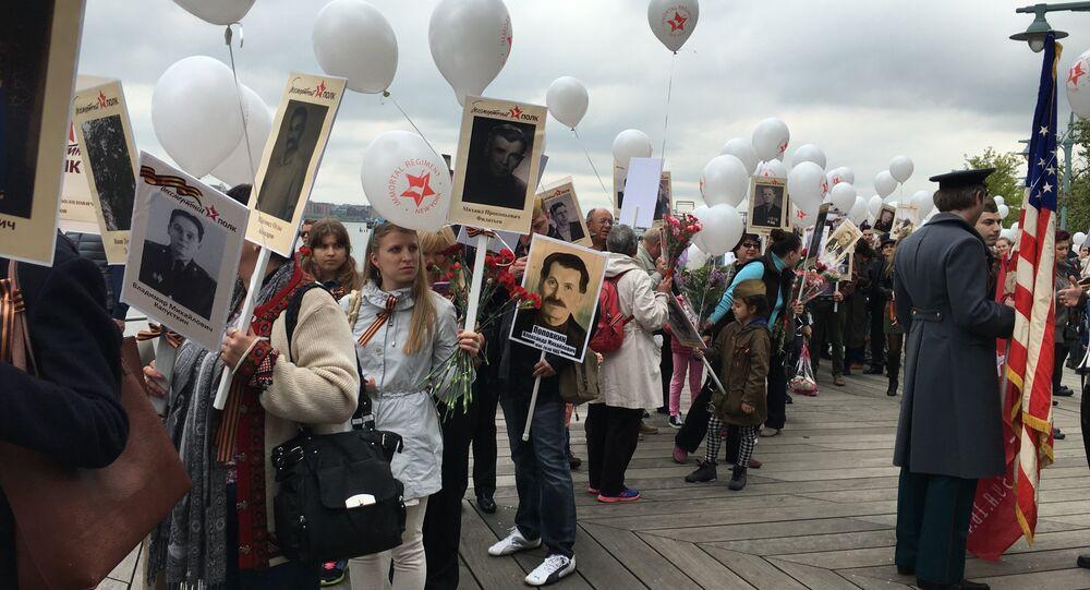 ABD'de 'Ölümsüz Alay' yürüyüşü