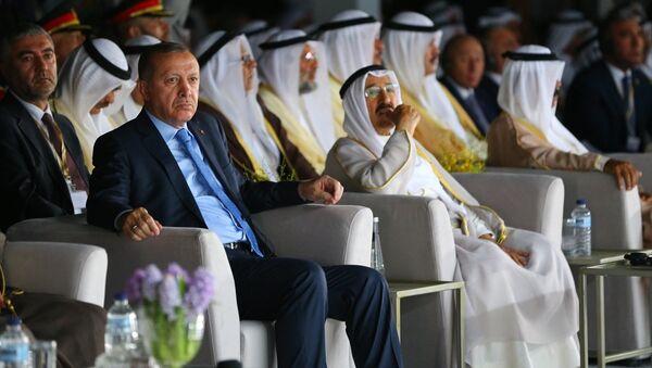 Cumhurbaşkanı Recep Tayyip Erdoğan- Kuveyt Emiri Şeyh Sabah Ahmed Cabir el Sabah - Sputnik Türkiye