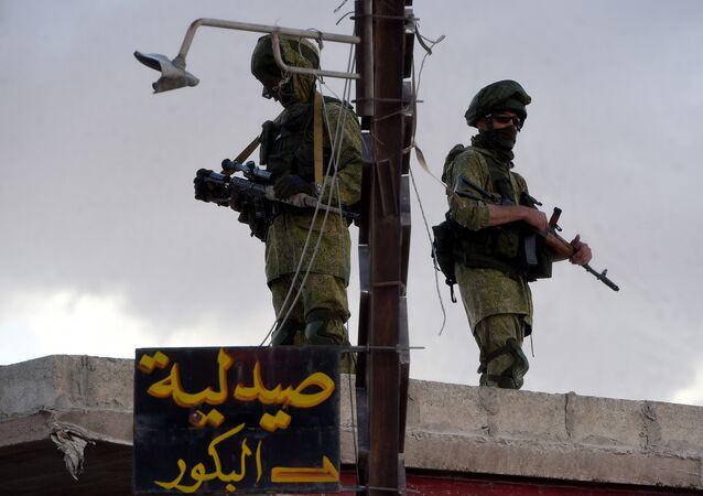 Suriye'de görev yapan Rus askerler