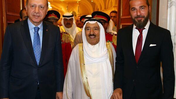 Cumhurbaşkanı Recep Tayyip Erdoğan - Kuveyt Emiri Şeyh Sabah Ahmed Cabir el Sabah - Engin Altan Düzyatan - Sputnik Türkiye