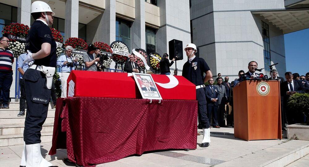 Denizli Cumhuriyet Başsavcısı Mustafa Alper'in cenazesi