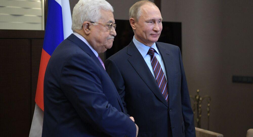 Filistin Devlet Başkanı Mahmud Abbas ve Rusya Devlet Başkanı Vladimir Putin
