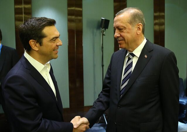 Cumhurbaşkanı Recep Tayyip Erdoğan- Yunanistan Başbakanı Aleksis Çipras