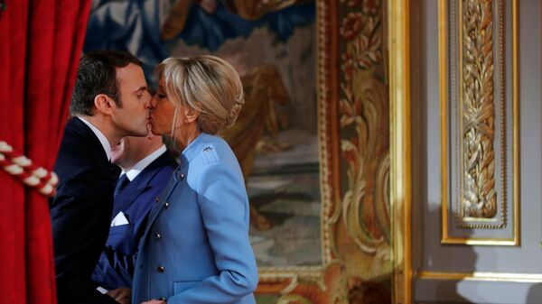 Emmanuel Macron - Brigitte Trogneux - Sputnik Türkiye