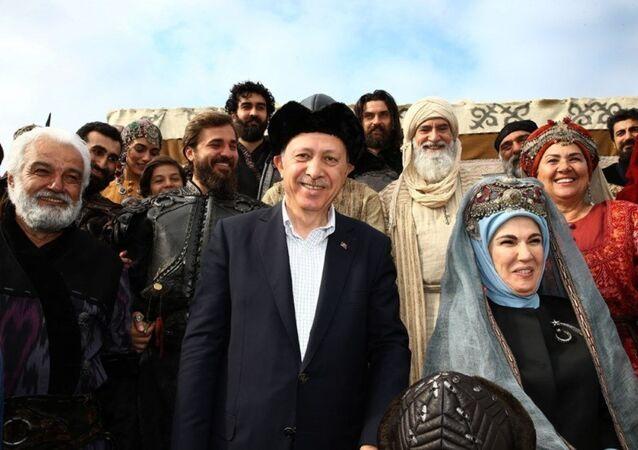 Cumhurbaşkanı Recep Tayyip Erdoğan, Diriliş Ertuğrul setinde