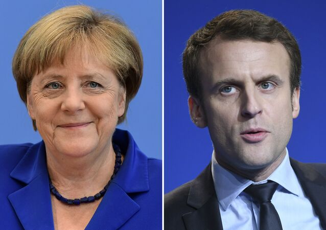 Almanya Başbakanı Angela Merkel ve Fransa Cumhurbaşkanı Emmanuel Macron