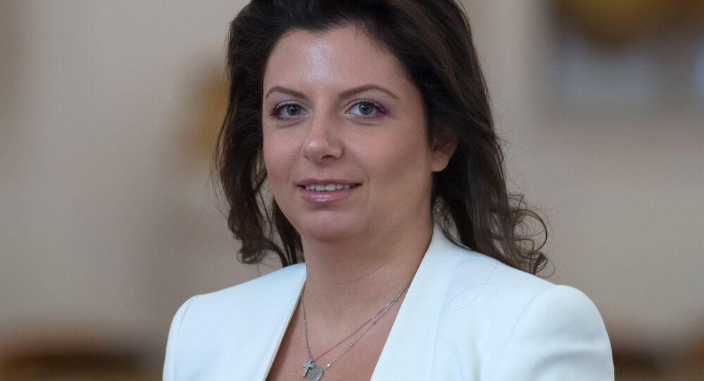 Sputnik'in bağlı olduğu Rossiya Segodnya haber ajansının Genel Yayın Yönetmeni Margarita Simonyan