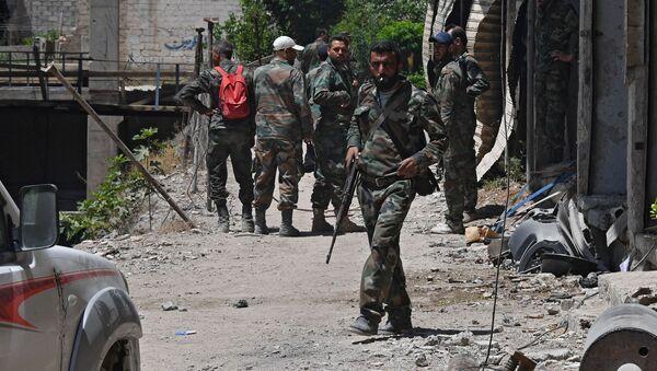 Şam'ın el-Kabun mahallesindeki durum - Sputnik Türkiye