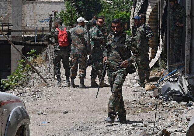Şam'ın el-Kabun mahallesindeki durum
