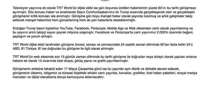 TRT'den açıklama