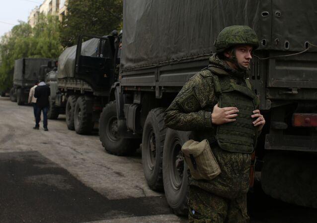 Suriye'de görev yapan bir Rus askeri