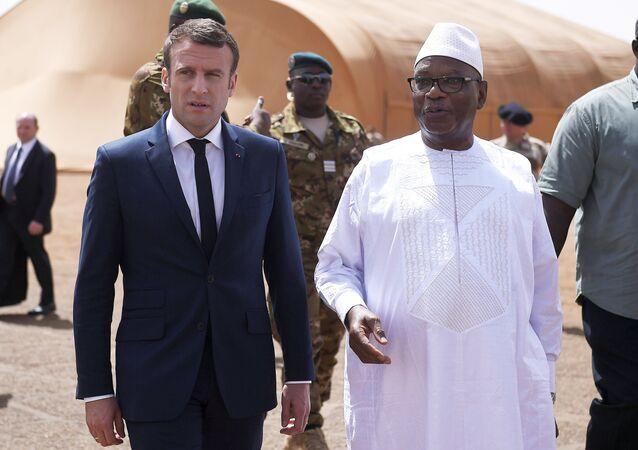 Fransa Cumhurbaşkanı Emmanuel Macron ve Mali Cumhurbaşkanı İbrahim Boubacar Keita
