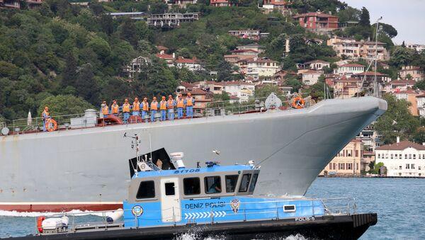 Rus Karadeniz Filosu'na bağlı savaş gemisi - Sputnik Türkiye