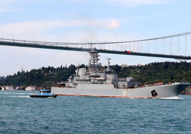 Rus Karadeniz Filosu'na bağlı savaş gemisi