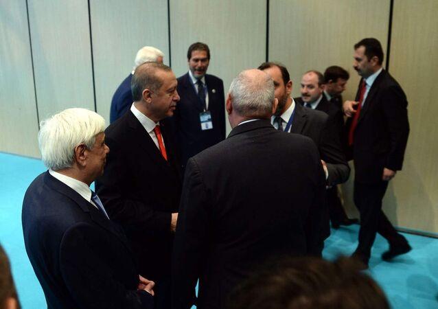 Yunanistan Cumhurbaşkanı Prokopis Pavlopulos- Cumhurbaşkanı Recep Tayyip Erdoğan
