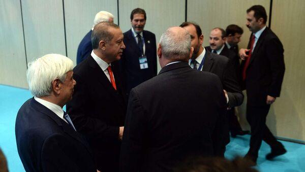 Yunanistan Cumhurbaşkanı Prokopis Pavlopulos- Cumhurbaşkanı Recep Tayyip Erdoğan - Sputnik Türkiye