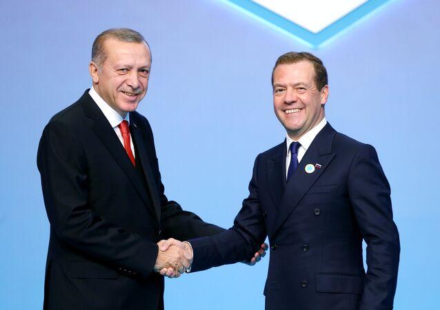 Cumhurbaşkanı Recep Tayyip Erdoğan- Rusya Başbakanı Dmitriy Medvedev