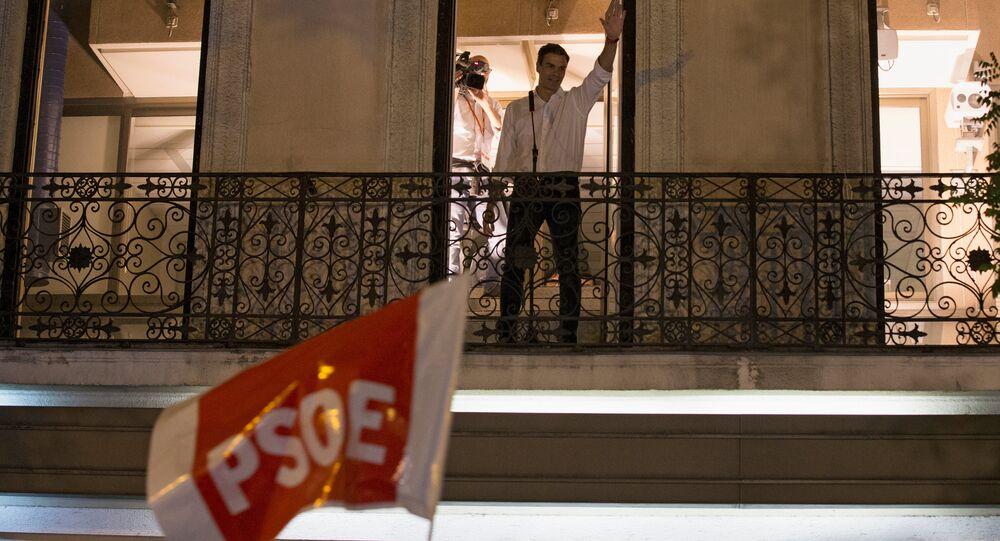 İspanya Sosyalist İşçi Partisi (PSOE) lideri Pedro Sanchez