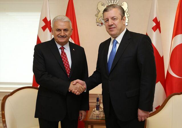 Başbakan Binali Yıldırım - Gürcistan Başbakanı Giorgi Kvirikaşvili