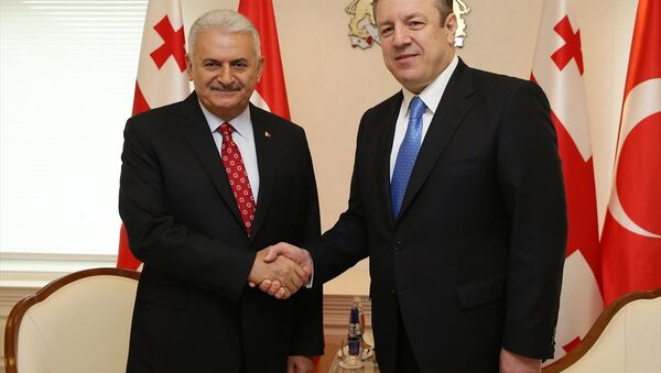 Başbakan Binali Yıldırım - Gürcistan Başbakanı Giorgi Kvirikaşvili - Sputnik Türkiye