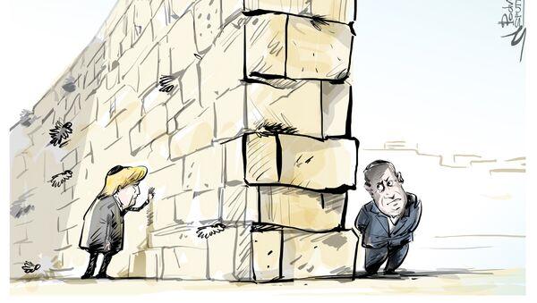 Trump, Ağlama Duvarı'nda - Sputnik Türkiye